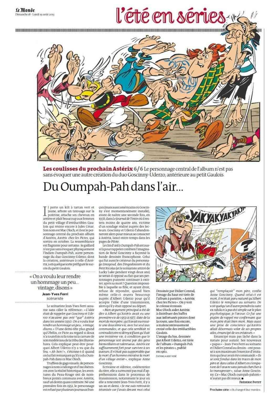 """""""Astérix chez les Pictes"""" Tome 35 (24 Octobre 2013)    Lemond18"""