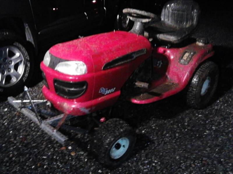 Project Craftsman mud mower Tracto15