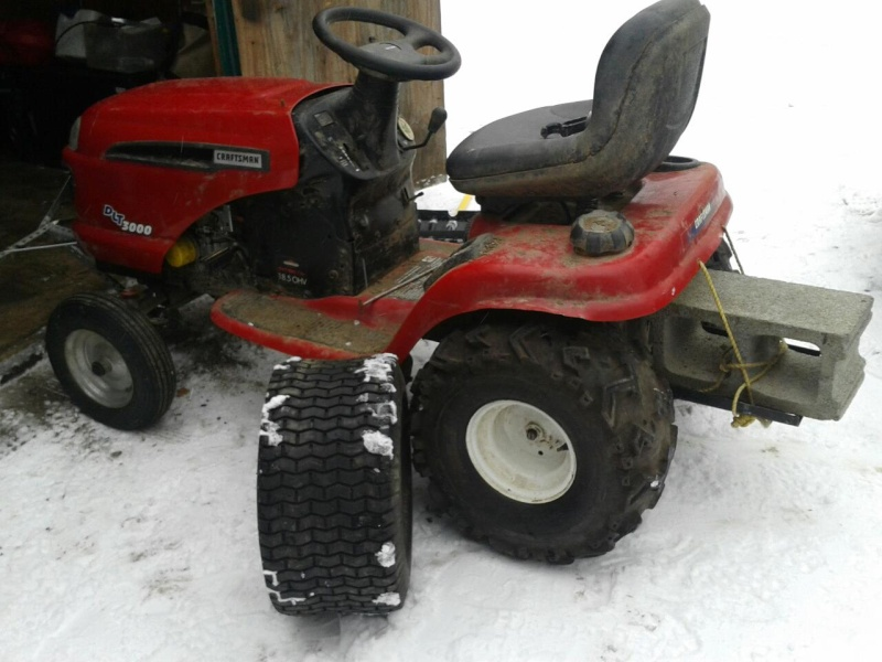 Project Craftsman mud mower Tracto17
