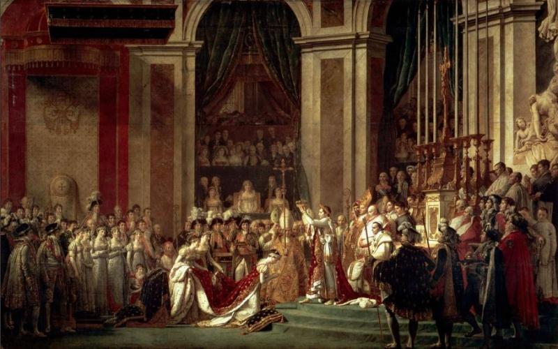 2 décembre 1804 - Sacre de NAPOLEON en Notre-Dame de PARIS Sacres10