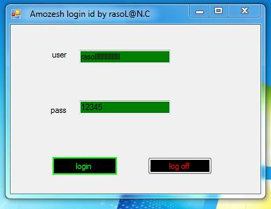 Amozesh login id and Resource by rasoL@N.C  12345610