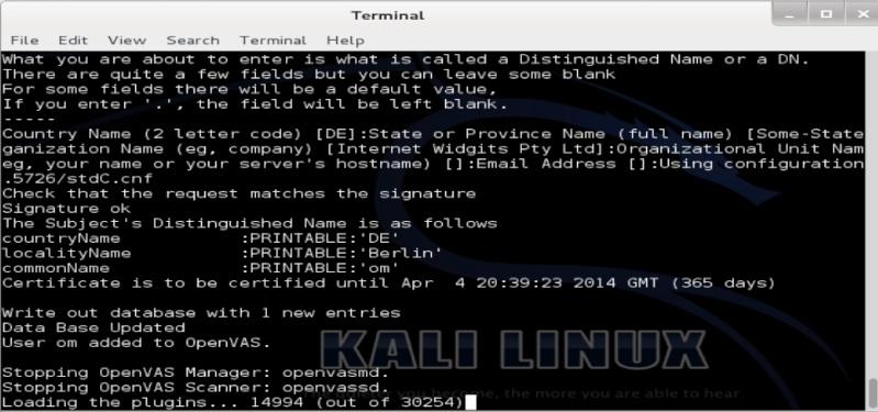 Tutorial openvas-setup para Kali Linux Openva13