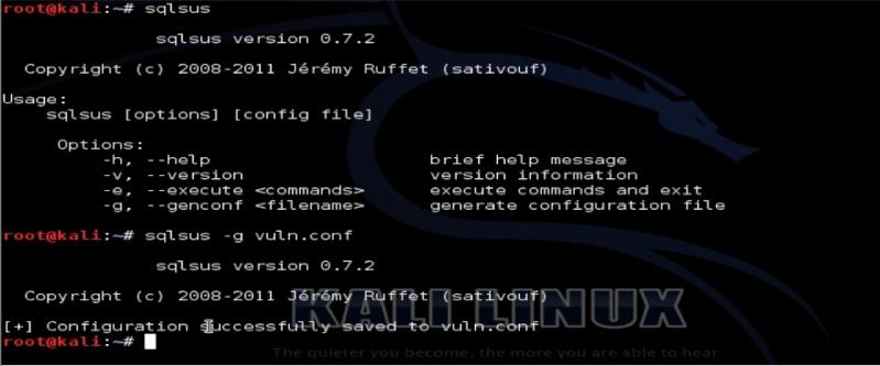 Tutorial sqlsus para Kali Linux Sqlsus10