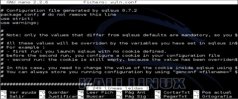 Tutorial sqlsus para Kali Linux Sqlsus12