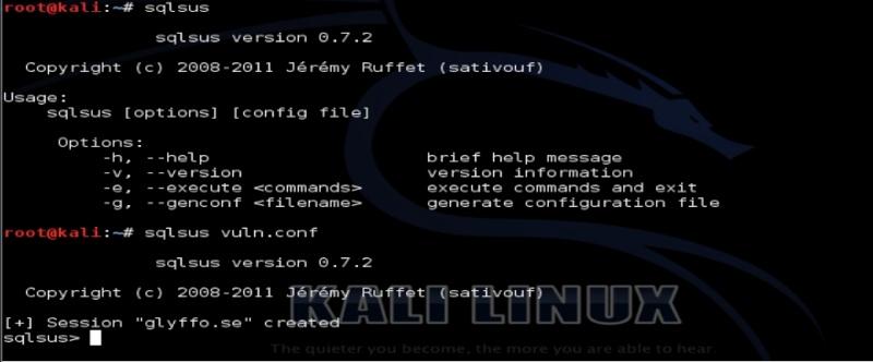 Tutorial sqlsus para Kali Linux Sqlsus14