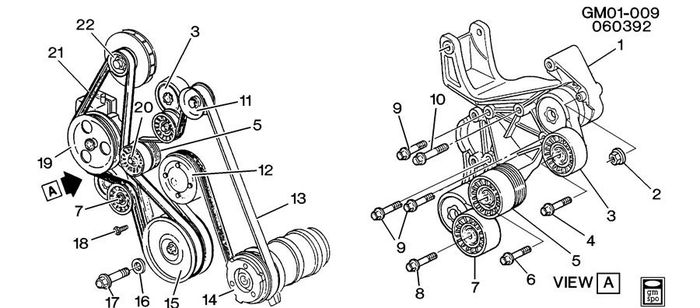 Write-Up: Replacing Belt Tensioner Pulley (Series I) - Page 2 3800-s10