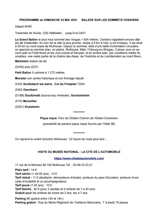 Sortie Alsace du 21 au 24 mai 2021. Entre Vosges & Vignobles alsaciens Page_122