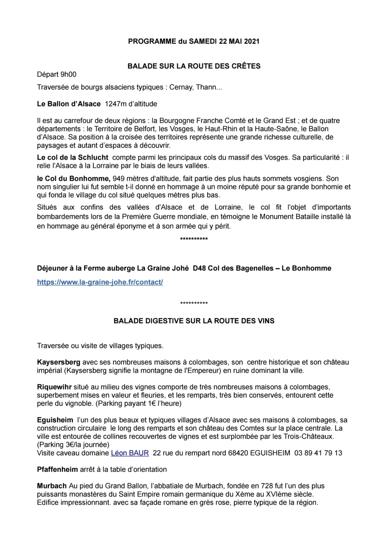 Sortie Alsace du 21 au 24 mai 2021. Entre Vosges & Vignobles alsaciens Page_124