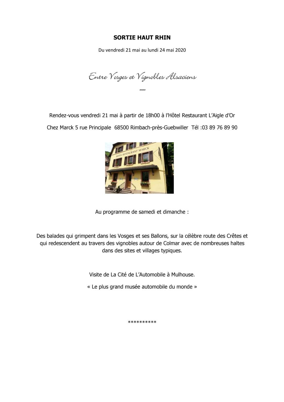 Sortie Alsace du 21 au 24 mai 2021. Entre Vosges & Vignobles alsaciens Page_125