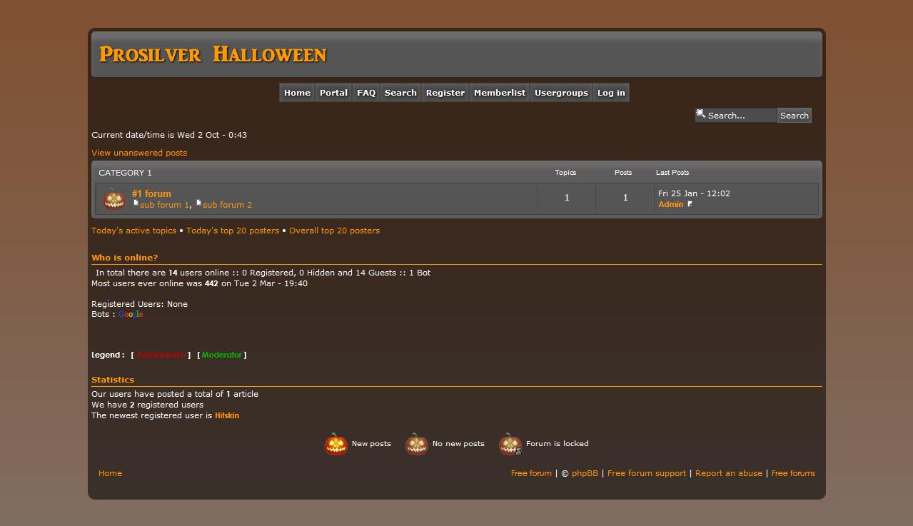 Prosilver Halloween - phpbb3 Cap12