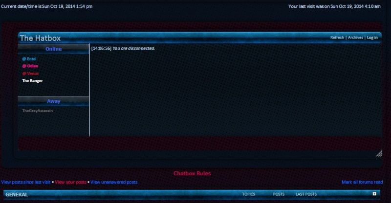 Add rules beneath the chatbox Homepa10