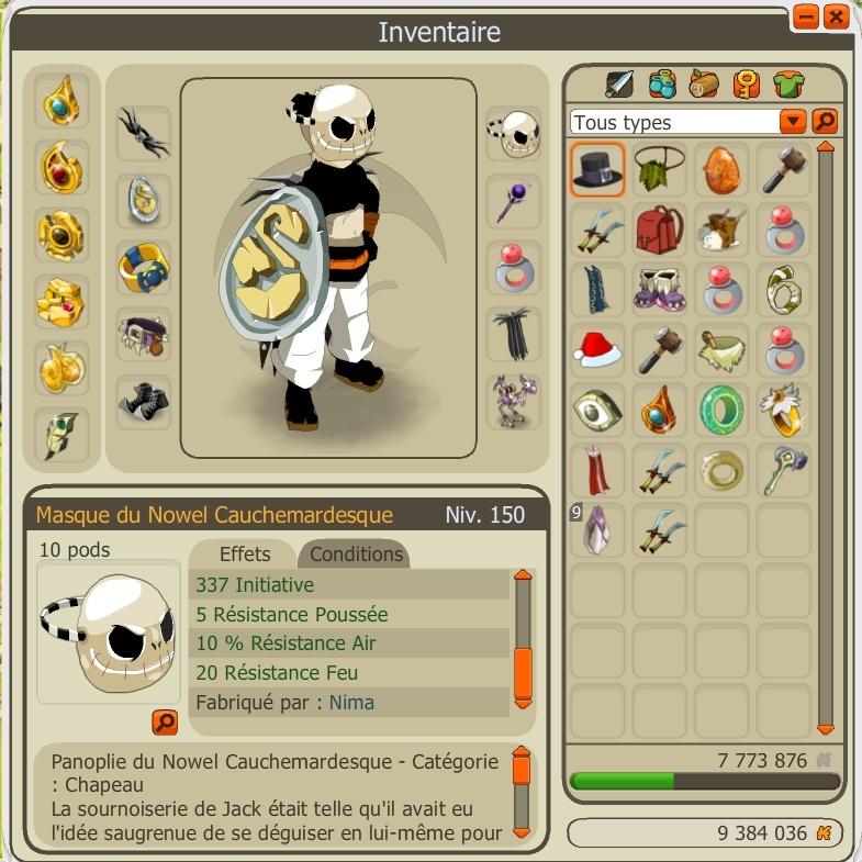 Rasgado Pandawa multi éléments niveau 150 Panda110