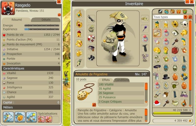 Rasgado Pandawa multi éléments niveau 150 Panda510