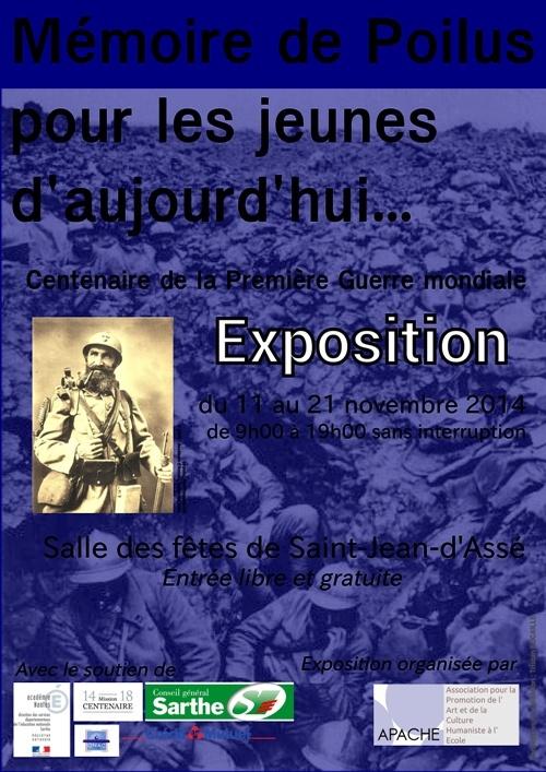 Exposition sur la Grande Guerre dans la Sarthe, du 11 au 21 novembre 2014 Affich10