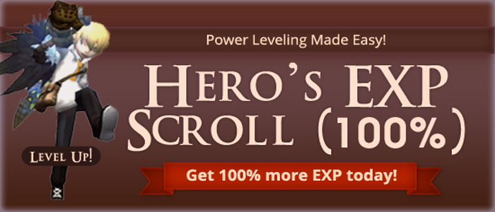 Hero's Exp Scroll (100%)