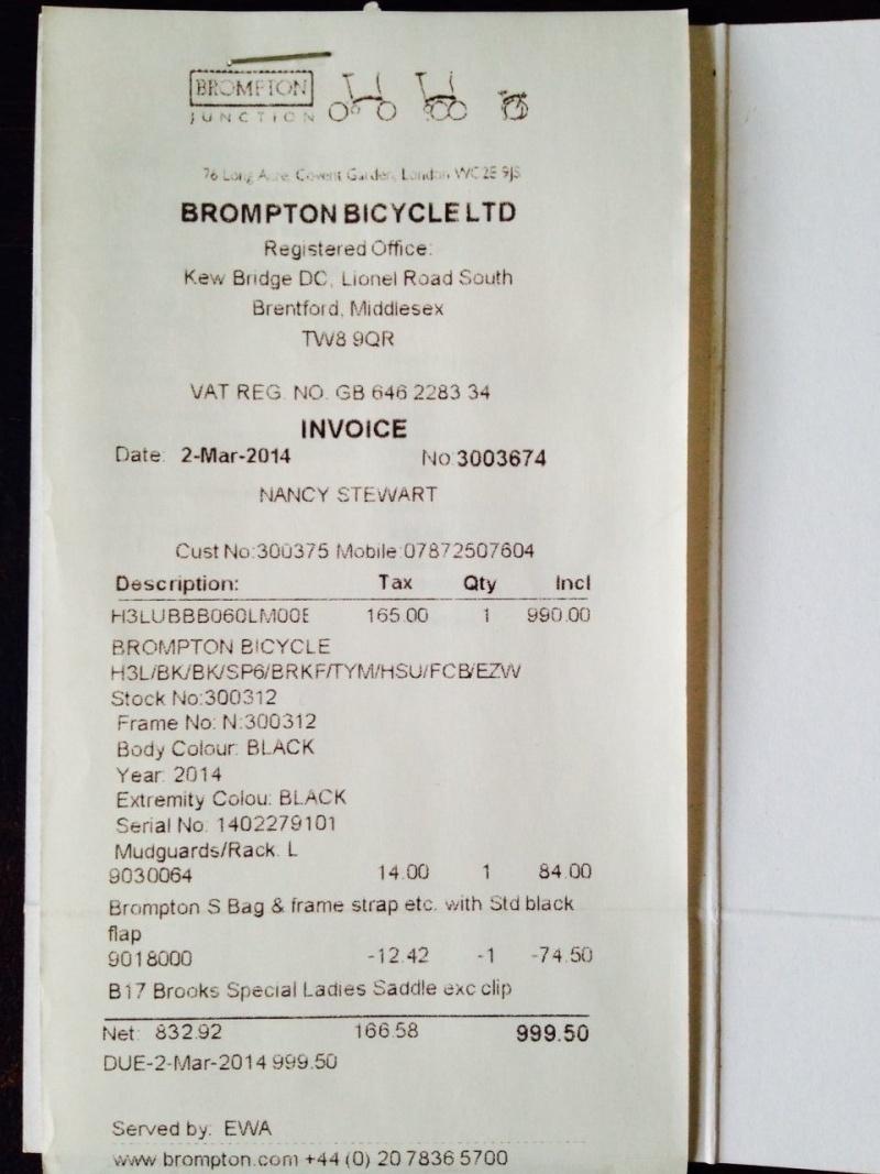 Vends Brompton neuf M3L Bleu cobalt (vendu) - Page 2 810