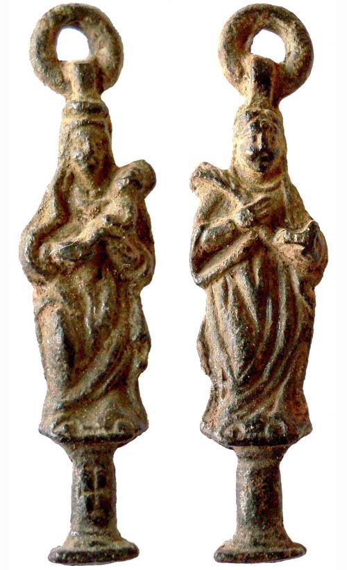 Medalla figurada Virgen del Pilar / Santa Engracia S-XVII/ S-XVIII (R.M. PFV Engracia 2) Pilar-13