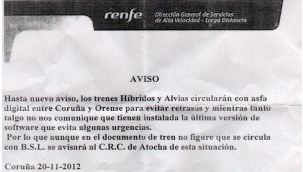 Déraillement d'un Alvia hybride à St Jacques de Compostelle. - Page 2 Aviso_10