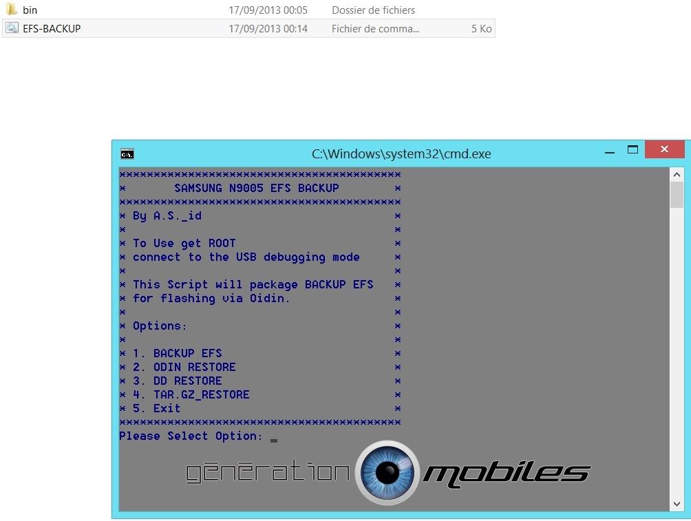 [OUTIL][SM-N9005] Backup et Restore EFS (IMEI) pour le SGNIII [16.09.2013] Menu_e11