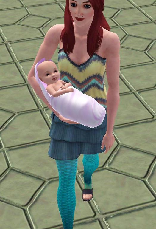 Mermaid birth. Mother10
