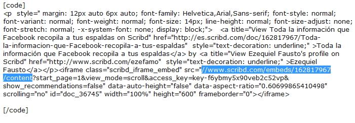 Cómo alojar un documento en Scribd, servidor oficial - Tutorial actualizado Cod_sc10