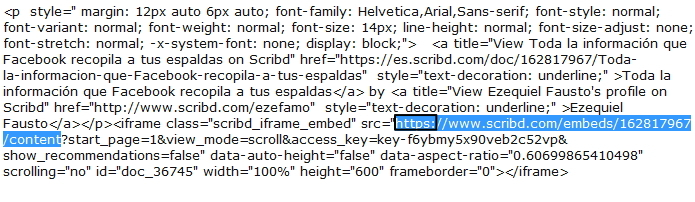 Cómo alojar un documento en Scribd, servidor oficial - Tutorial actualizado Cod_sc11