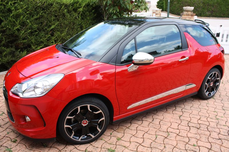 Vend DS3 E-HDI 110 Sport Chic rouge Aden toit Onyx  Img_5517