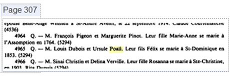 Naissance de Félix Dubois: Une énigme Poal110