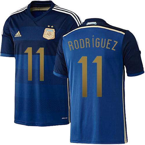 Argentina #11 Maxi Rodriguez Blue Away Soccer Country Jersey / 70$ Argent12