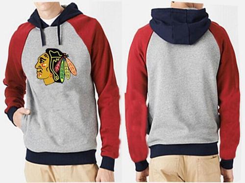 Chicago Blackhawks Pullover Hoodie Grey & Red / 70$ Blackh15