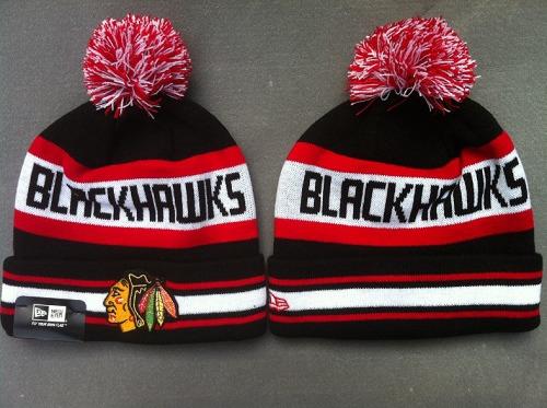 Baseball Chicago Blackhawks New Era Logo Stitched Knit Beanies / 30$ Blackh17