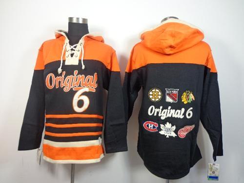 NHL Original 6 Teams Black Sawyer Hooded Sweatshirt Stitched NHL Jersey / 95$ Bruins10