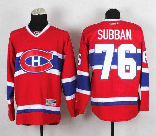 Canadiens #76 PK Subban Stitched Red New CH NHL Jersey / 80$ Canadi11