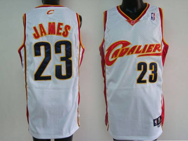 Cavaliers #23 LeBron James Stitched White NBA Jersey / 75$ Cavali10