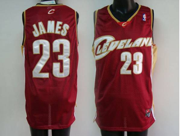 Cavaliers #23 LeBron James Stitched Red NBA Jersey / 75$ Cavali11