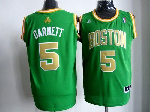 Celtics #5 Kevin Garnett Stitched Green Gold Number NBA Jersey / 75$ Celtic11