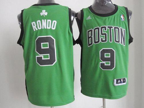 Celtics #9 Rajon Rondo Green Alternate Revolution 30 Stitched NBA Jersey / 75$ Celtic13