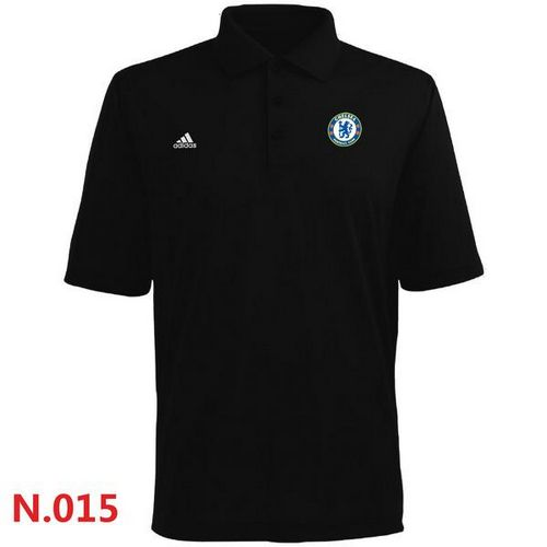 Adidas Chelsea FC Textured Solid Performance Polo Black / 30$ Chelse12