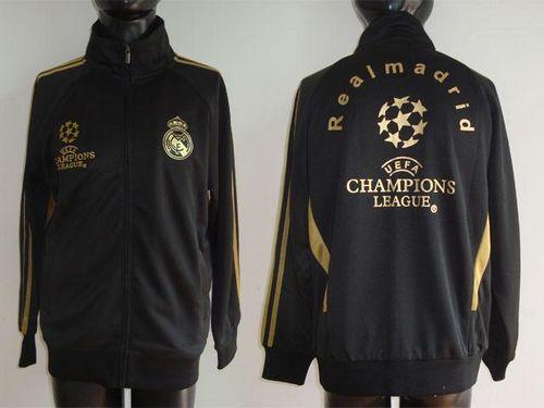 Real Madrid Soccer Jackets Black / 80$ Coat-011