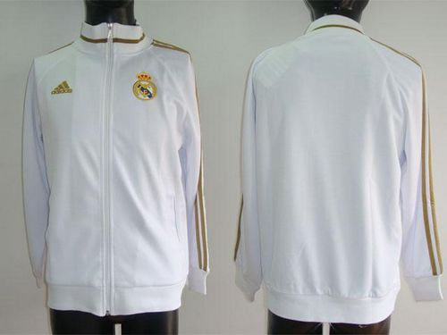 Real Madrid Soccer Authentic Jackets White-Gold / 80$ Coat-013
