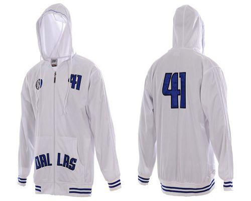 Dallas Mavericks #41 White NBA Hoodies / 70$ Hoody-12