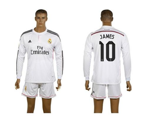 Real Madrid #10 James White Home Long Sleeves Soccer Club Jersey avec les shorts! / 80$ Madrid10