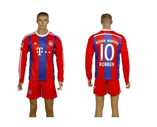 Bayern Munchen #10 Robben Home Long Sleeves Soccer Club Jersey avec les shorts! / 75$ Munche11