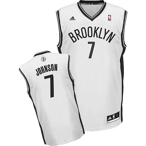 Nets #7 Joe Johnson White Home Revolution 30 Stitched NBA Jersey / 75$ Nets-010