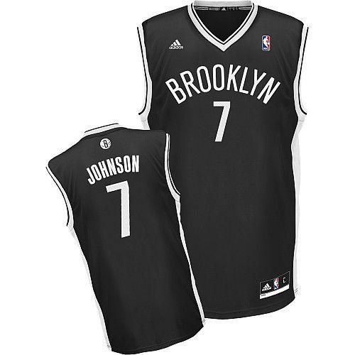 Nets #7 Joe Johnson Black Road Revolution 30 Stitched NBA Jersey / 75$ Nets-011