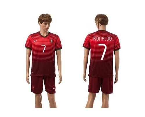 Portugal #7 Ronaldo Red Home Soccer Country Jersey avec les shorts! / 75$ Portug14