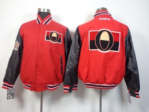 Ottawa Senators Blank Satin Button-Up Red NHL Jacket / 130$ Senato10