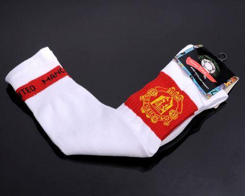 Manchester United Soccer Football Sock White / 20$ Sock-013
