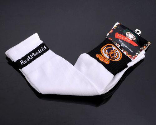 Real Madrid Soccer Football Sock White / 20$ Sock-014
