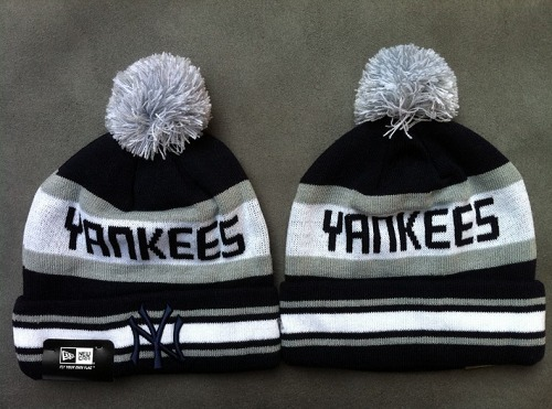 Baseball New York Yankees New Era Logo Stitched Knit Beanies / 30$ Yankee10